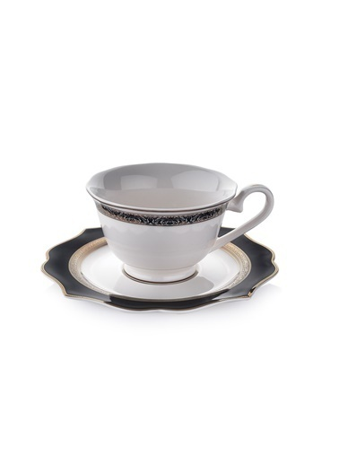 Schafer 12 Parça Dantella Çay Fincan Takımı - SIY01 Renkli